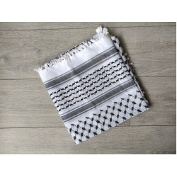 Black and White Kufiya (Arafat scarf)