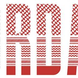 Roter und weißer jordanischer Shemagh