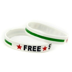 Befreit Syrien-Armband (weiß)