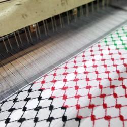 Farbige Kufiya (palästinensische Farben)