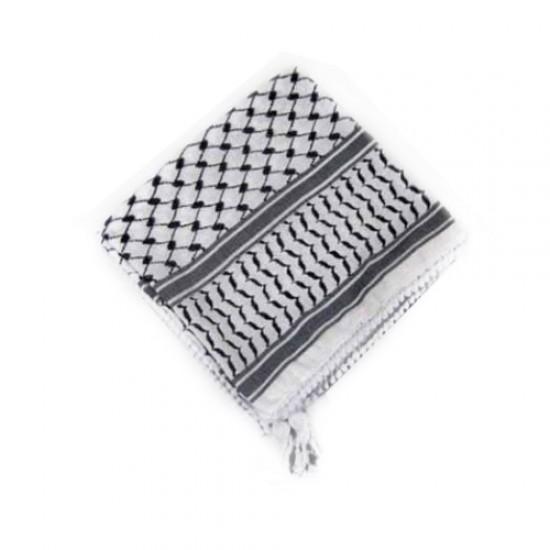 Palästinensische Schwarz-Weiß-Kufiya (Arafat-Schal)