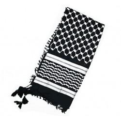 Schwarzer palästinensischer Kufiya (schwarzer Arafatschal)