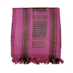 Dunkelrosa Arafat-Schal