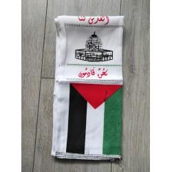 Al Aqsa kufiya Sjawl banner (MISDRUK)